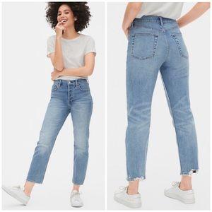 GAP high rise cheeky straight jeans • 18 tall